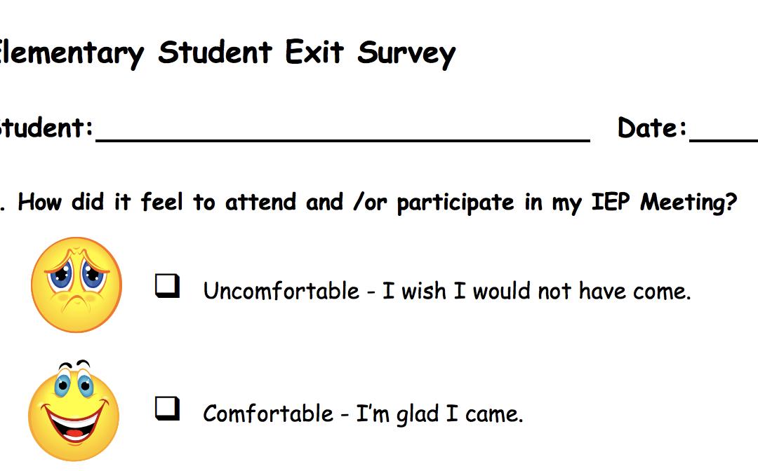 Exit Survey Elementary Student