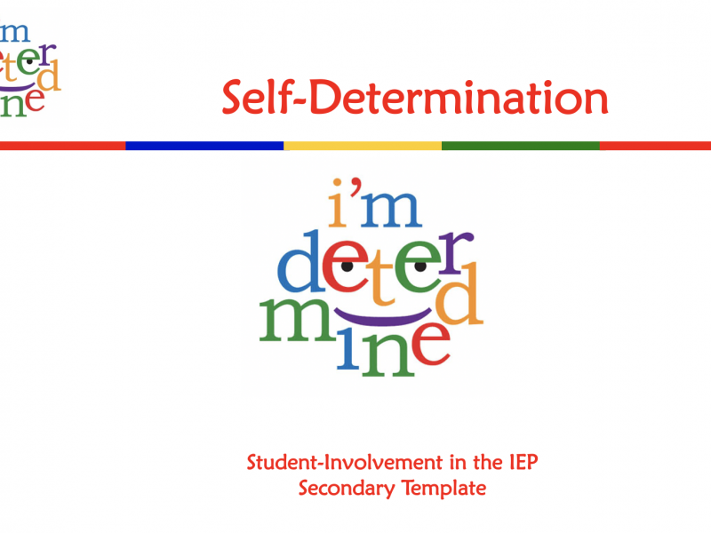 Thumbnail image of the Secondary IEP Template with the I'm Deterimined logo.